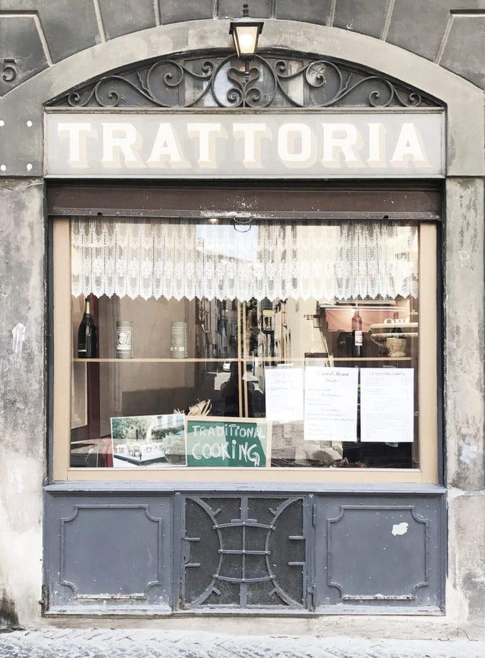 ベルガモのトラットリア