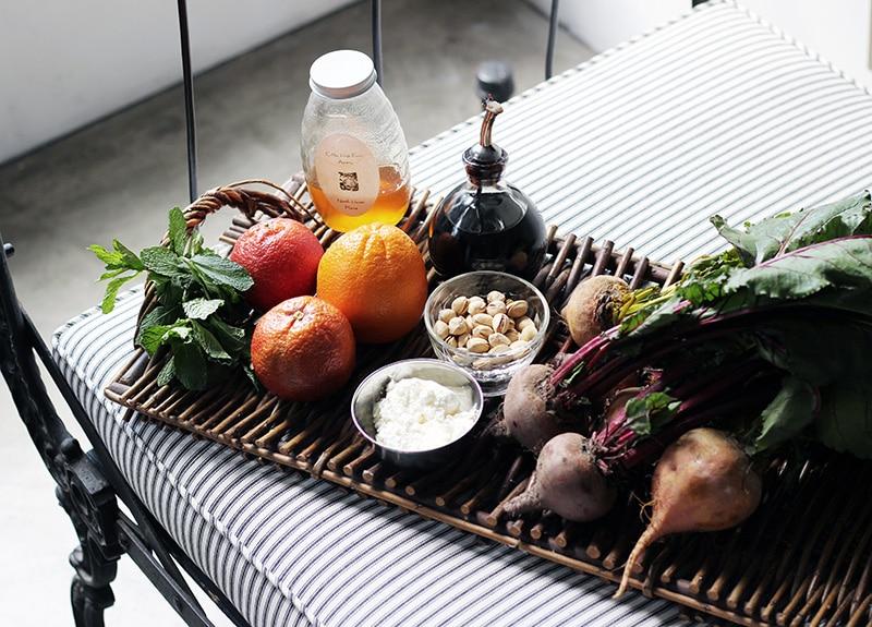ビーツとオレンジのサラダの材料