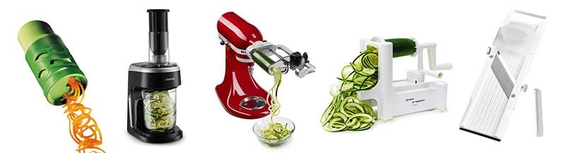 ズッキーニを麺状にスライスするための器具