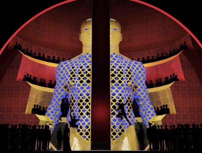 サン=サーンス『サムソンとデリラ』の舞台セット Image from The Met